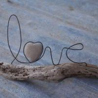 "Wire word ""LOVE"" makes a great Valentine decoration"