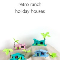 How to make mini mid-century modern houses