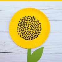 How to make and paint paper plate sunflowers