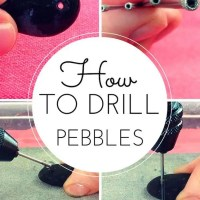 How to drill into pebbles and stones