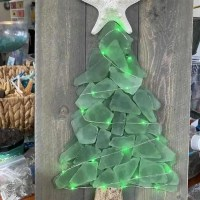Christmas in July- Turn your beach glass into festive mini Christmas trees