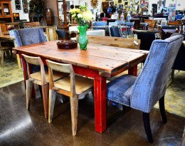 Barn Wood Reclaimed Wood Dining Table by Mustache Flats