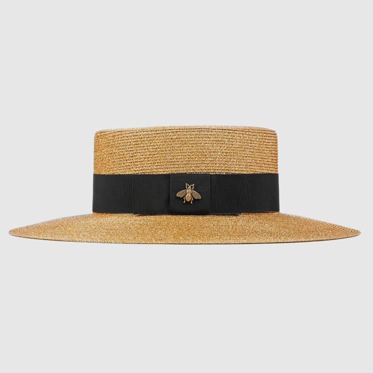 Gucci Inspired Straw Hat