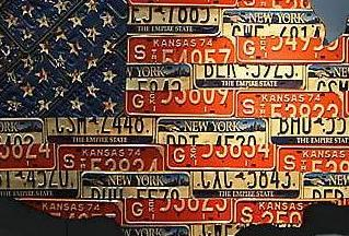 HD Decor Images » American Icons Created Out of Recycled License Plates   RecycleNation And