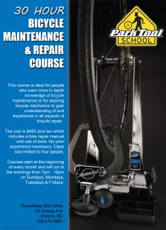 30 Hour Bike Repair Course