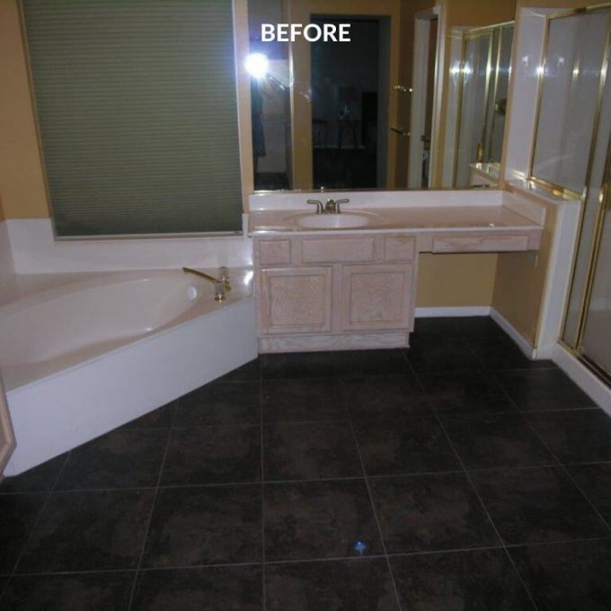 Bathroom Master remodeling before and after