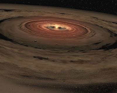 Disco de polvo alrededor de una estrella