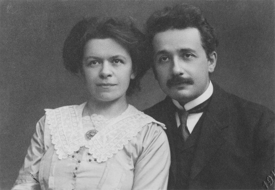 Ehepaar Einstein in Prag