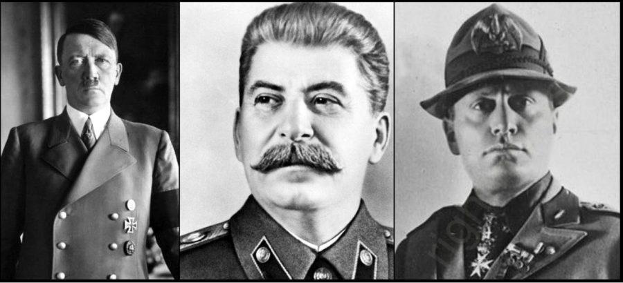 Adolf Hitler, Joseph Stalin y Benito Mussolini   Via:  emaze.com