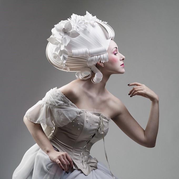 pelucas espectaculares en papel
