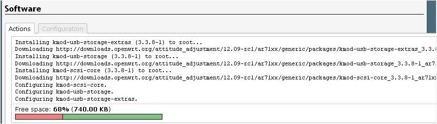 OpenWRT - Rootfs & Swap on USB Storage (6/6)