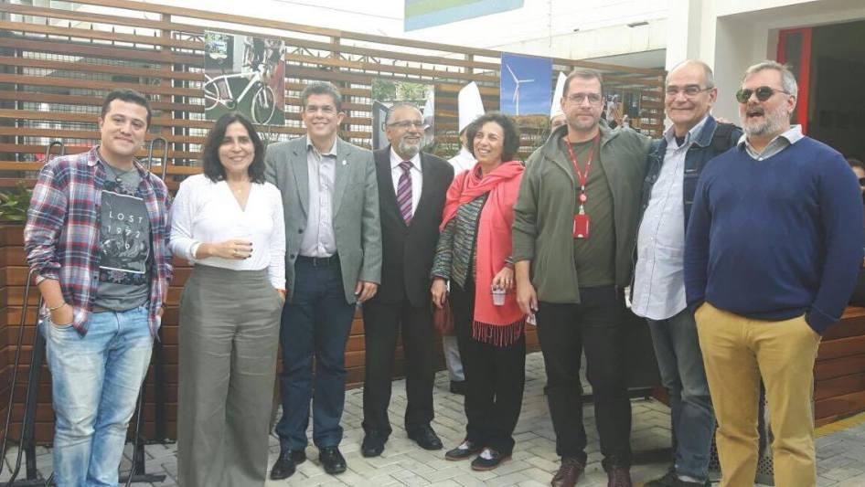 Presenças ilustres: Gabriel Donnangelo, Luiza de Andrade, Marco Tullio, professores de Arquitetura e Urbanismo