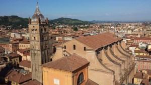 Arquitetura da cidade italiana de Bolonha