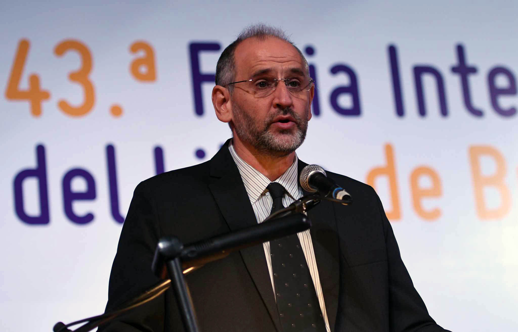 El Presidente de la Fundación El Libro, Martín Gremmelspacher. Foto: Osvaldo Fantón/jcp