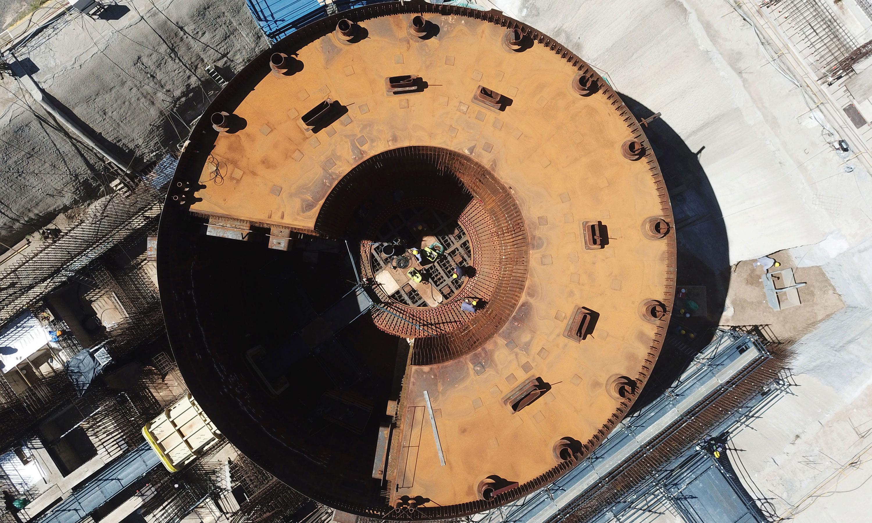 La obra del CAREM avanzó en un 51% y debería estar terminada en 2021.   Foto: CNEA