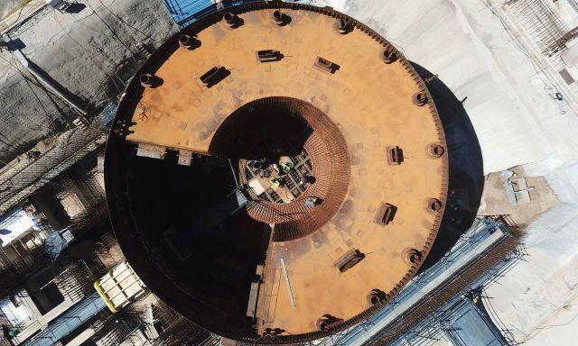 La obra del CAREM avanzó en un 51% y debería estar terminada en 2021. | Foto: CNEA