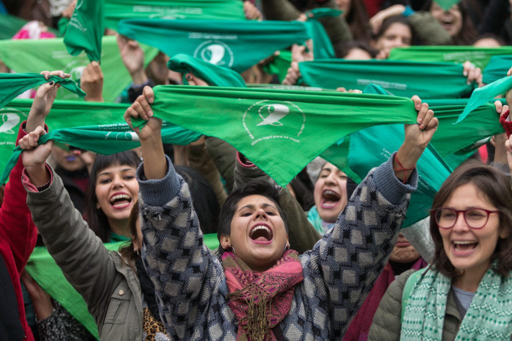 Una manifestación por la despenalización del aborto en Tucumán, el jueves 14 de junio.   Foto: Julio Pantoja -Télam