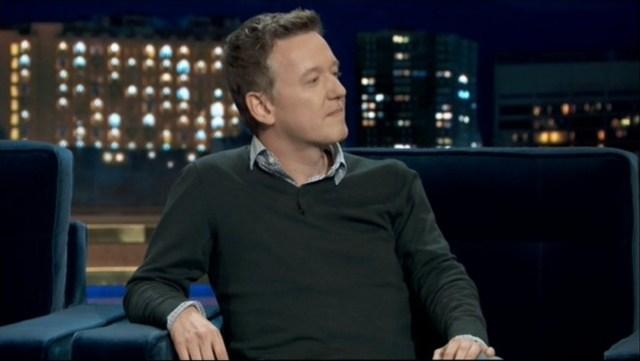 El periodista español Pablo Romero en un programa de televisión, en España.