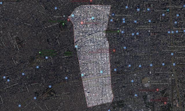 Los barrios de Boedo y Almagro, que conforman la comuna 5, sólo tienen 0,2 mts2 de verde por habitante.