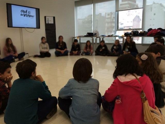 En el Centro Cultural de la Ciencia, uno de los talleres del grupo El Pensadero.