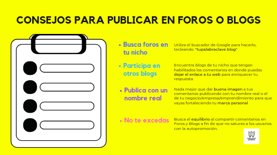 Seo off page foros y blogs