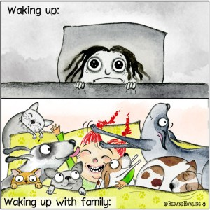 Waking Up with Family