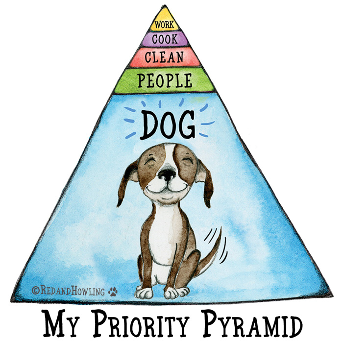 My Priority Pyramid Red And Howling