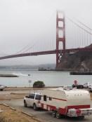 Red with the Golden GateBridge!