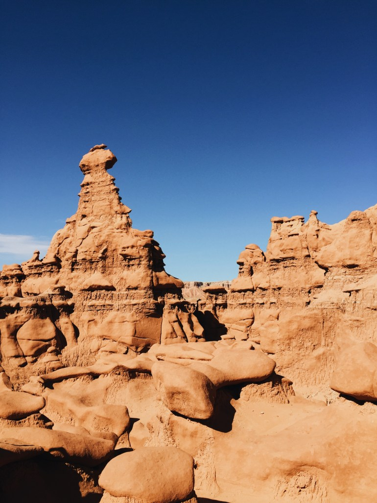 Hiking Goblin Valley in utah