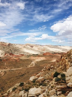 Hiking to Halls Creek Overlook by Lake Powell