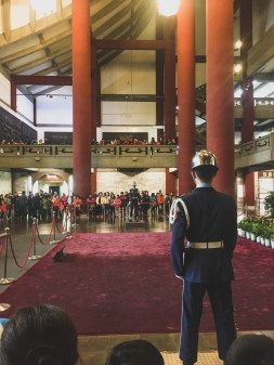 sun yat sen guard changing taipei taiwan