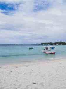 malapascua beach with boat cebu philippines