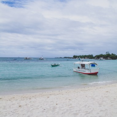 malapascua beach with boat cebu philippines