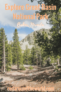Great Basin in Nevada is an underrated national park. It is on the eastern border of Nevada, right by Utah, outside of the tiny town of Baker, Nevada. Hiking in Great Basin is perfect and there is tons of it. You can also tour Lehman Cave in Great Basin National Park in Nevada. #nevada #nationalpark #greatbasin #hiking #roadtrip #cave #usa #lehmancave