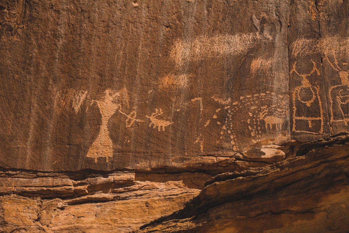 Witch Zapping Reindeer, Or The 100 Hands Pictograph in Escalante