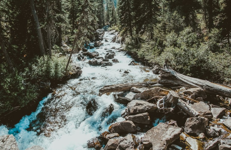 Hidden Falls Grand Teton National Park