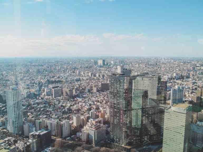 Tokyo government building observation floor