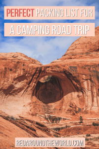 This is the perfect packing list for camping in the national parks on a road trip including hiking and camping gear for the casual camper and hiker.