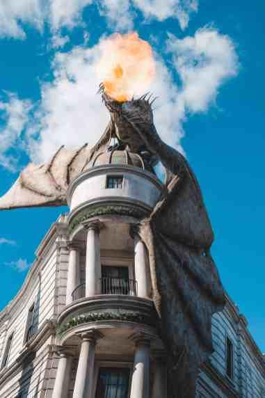 Gringotts dragon wizarding world of harry potter universal orlando harry potter