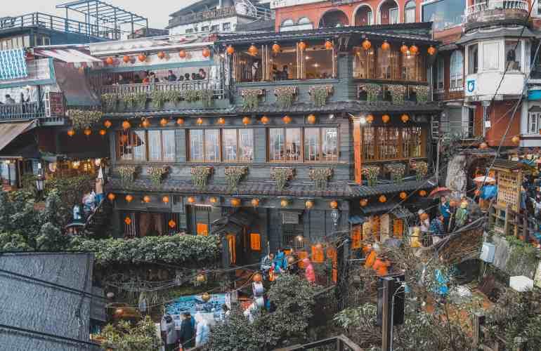 Jiufen A-Mei Tea House Jiufen old street taiwan
