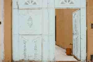 white door in ecuador