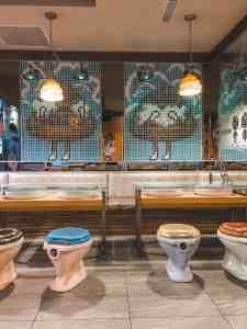 Modern toilet restaurant toilet themed restaurant in Taipei Taiwan