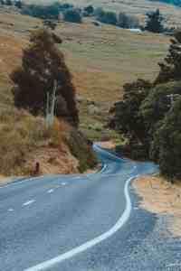 mountain road near new zealand