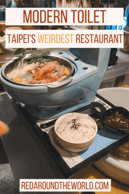 Modern Toilet in Taipei is a toilet themed restaurant. The Toilet restaurant in Taipei is one of the weirdest restaurants in Taiwan.