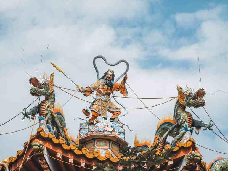 collapsed temple in taiwan Wuchang temple jiji taiwan