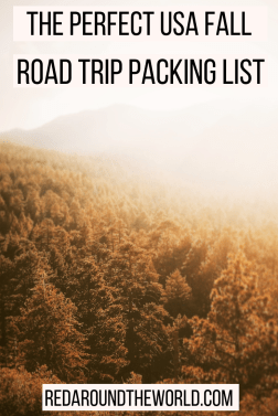 This is the perfect packing list for a fall road trip through the Southeast US. Find out what to bring for a trip to the Great Smoky Mountains. If you're taking a fall road trip in the USA, this packing list will help you plan your trip. This fall packing list is perfect for a leaf-peeping road trip in the USA.