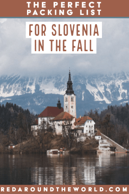 If you're planning a trip to Slovenia, this is the perfect packing list for you. Slovenia | Slovenia packing | Slovenia packing list | Slovenia travel | Slovenia vacation | Europe packing | Europe Packing list | Europe packing list fall |