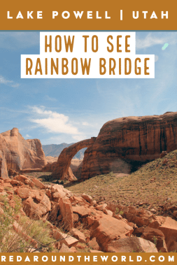 Rainbow Bridge on Lake Powell is a great way to get a taste of the lake and what it has to offer. Hiking to Rainbow Bridge on lake Powell is fun and easy. Rainbow Bridge Lake Powell | lake powell utah | lake powell arizona | lake powell things to do | lake powell houseboat | lake powell vacation | rainbow bridge arizona | Rainbow bridge utah | utah road trip | utah travel | utah things to do | arizona travel | arizona road trip | arizona things to do