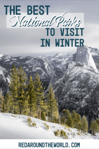 Most people think of national park road trips in the summer, but there are tons of awesome national parks to visit in the winter in every climate. US National Parks   National Park road trip   national parks to see in winter   winter national parks   Zion national park   Arches National Park   Yosemite national park   Big Bend National park   Everglades National Park   Voyageurs National Park   Yellowstone National Park   Grand Teton National Park   Sequoia National Park   Yellowstone in winter   Tetons in winter   Arches in winter   Zion in winter   national parks in winter   winter road trip
