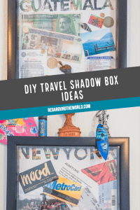 Don't know what to do with all of your little travel mementos like tickets, money, and pictures? Find travel shadow box ideas here. DIY travel shadowbox | Travel memories | travel craft ideas | What to do with tickets | What to do with old travel stuff | Travel mementos | DIY Shadowbox | Travel shadow box